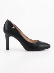 Pekné  lodičky dámske čierne na ihlovom podpätku #2