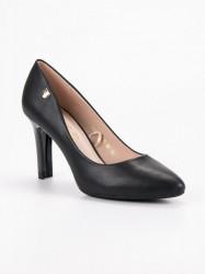 Pekné  lodičky dámske čierne na ihlovom podpätku #3