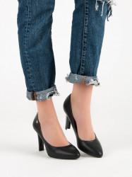 Pekné  lodičky dámske čierne na ihlovom podpätku #5