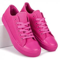 Pekné ružové  tenisky dámske bez podpätku
