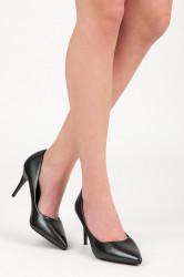 Pohodlné čierne   dámske na ihlovom podpätku #3