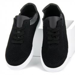 cbdb7543e Pohodlné čierne textilné tenisky