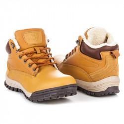 Pohodlné hnedé pánske členkové topánky
