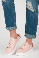 Pohodlné ružové tenisky s mašľou