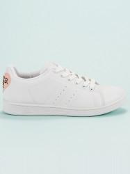Praktické dámske  tenisky biele bez podpätku #4