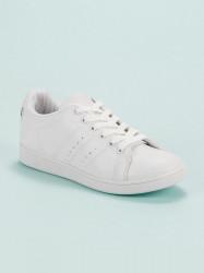 Praktické dámske  tenisky biele bez podpätku #5