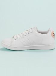 Praktické dámske  tenisky biele bez podpätku #6