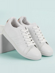Praktické dámske  tenisky biele bez podpätku #7