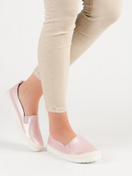 40daffedbcf7e Praktické ružové dámske tenisky bez podpätku