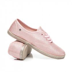 Praktické  tenisky ružové dámske bez podpätku #1