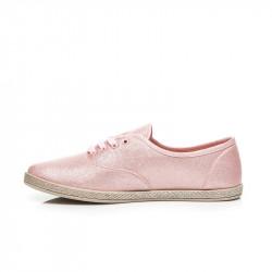 Praktické  tenisky ružové dámske bez podpätku #3