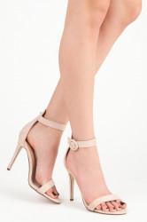 Rozkošné béžové sandále na vysokej ihle
