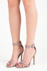 Rozkošné fialové sandále na vysokej ihle
