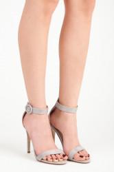 Rozkošné šedé sandále na vysokej ihle