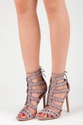 Sexy fialové sandále na vysokom ihlovom podpätku