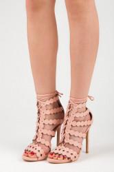 Sexy ružové sandále na vysokom ihlovom podpätku