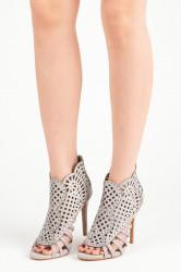 99b090990483 Sexy semišové šedé sandále na ihličkovom podpätkuSexy