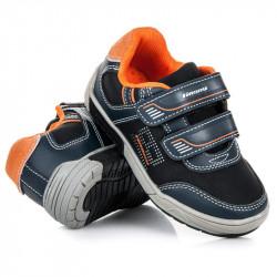 Športové čierne detské topánky na suchý zips