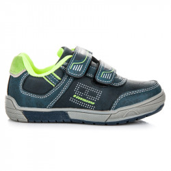 Športové modré detské topánky na suchý zips