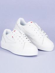 Štýlové biele tenisky od značky Fila #5