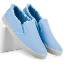 Štýlové modré nazúvacie tenisky