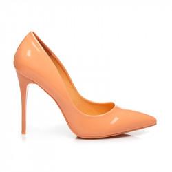 Štýlové oranžové  lodičky dámske na ihlovom podpätku