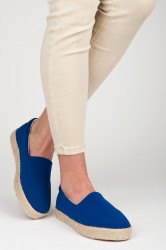 Štýlové  tenisky modré dámske bez podpätku