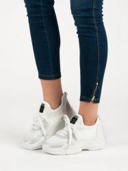 Trendy dámske biele  tenisky na kline
