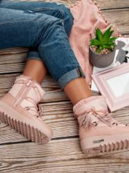 Trendy dámske ružové  snehule bez podpätku #8