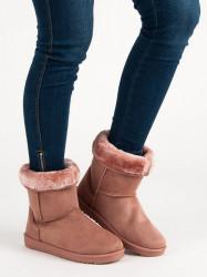 Trendy dámske  snehule ružové bez podpätku