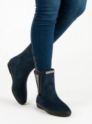 Trendy   modré dámske bez podpätku #5