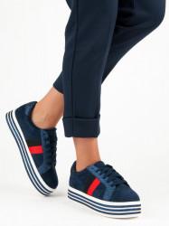 Trendy modré tenisky na platforme #2