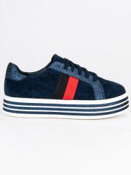 Trendy modré tenisky na platforme #3