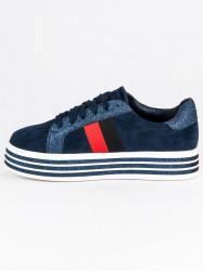 Trendy modré tenisky na platforme #4