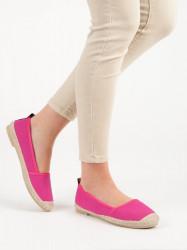 Trendy ružové  baleríny dámske bez podpätku