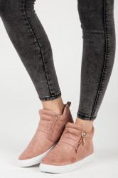 Trendy ružové  tenisky dámske bez podpätku