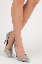 Trendy strieborné   dámske na ihlovom podpätku