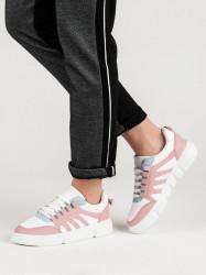Trendy  tenisky ružové dámske bez podpätku