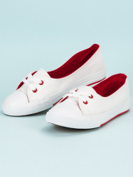 Výborné biele dámske  tenisky bez podpätku #1