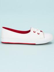 Výborné biele dámske  tenisky bez podpätku #2