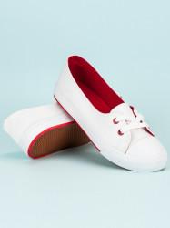 Výborné biele dámske  tenisky bez podpätku #4