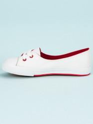 Výborné biele dámske  tenisky bez podpätku #5