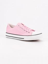Výborné ružové dámske  tenisky bez podpätku #1