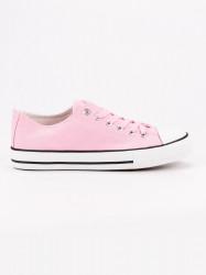 Výborné ružové dámske  tenisky bez podpätku #2