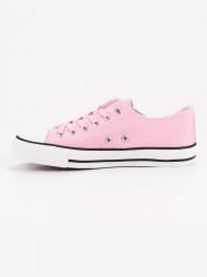 Výborné ružové dámske  tenisky bez podpätku #3