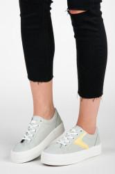Zaujímavé dámske strieborné  tenisky bez podpätku #5