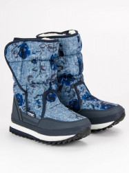 Zimné modré snehule na suchý zips