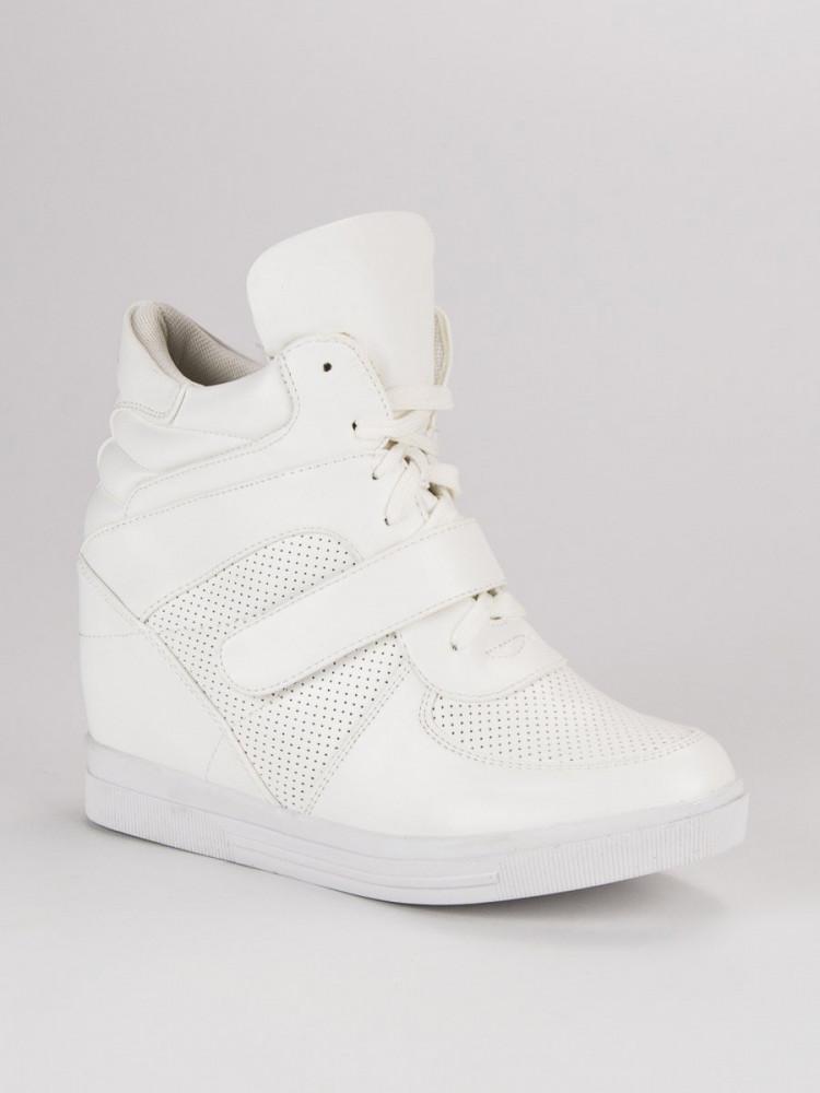 09a4089197 Biele tenisky na suchý zips - Dámske vysoké tenisky - Locca.sk