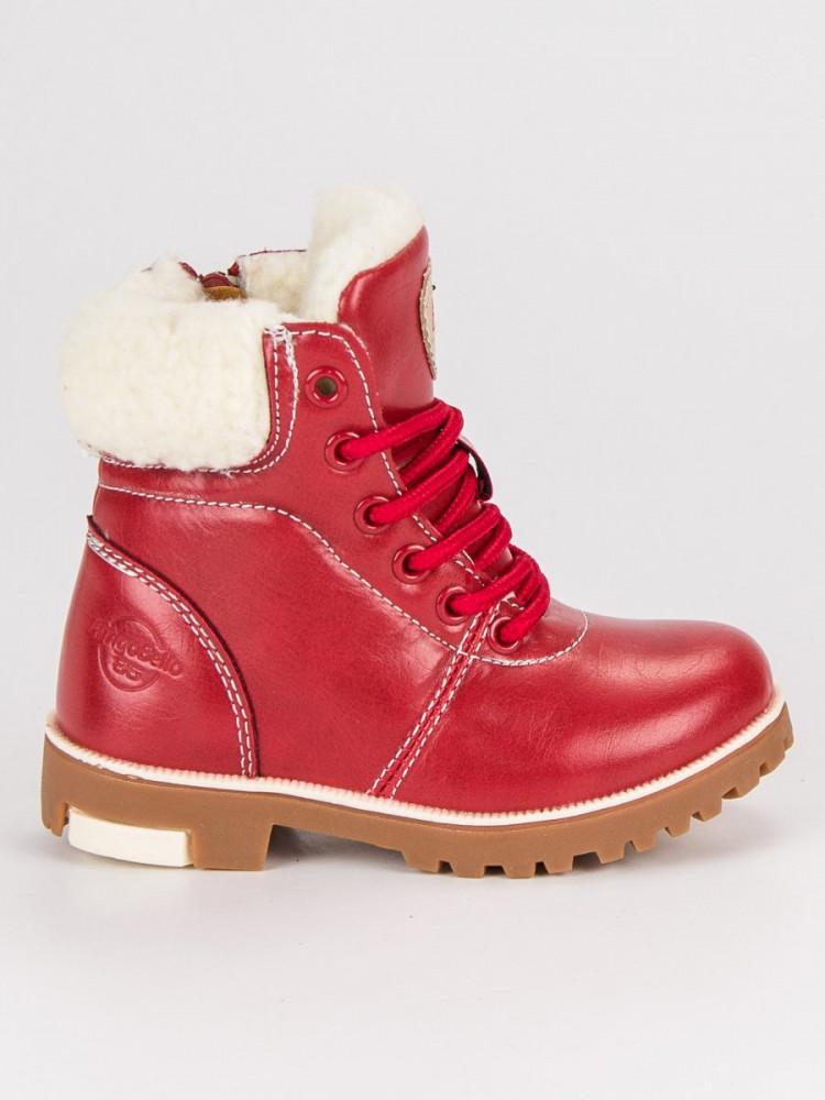 7b75351f0d Červené detské topánky na suchý zips - Detské čižmy - Locca.sk