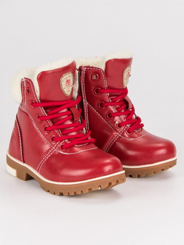 Červené detské topánky na suchý zips - Detské čižmy - Locca.sk 107e1524ab4